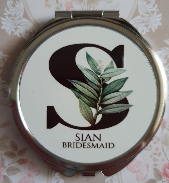 Personalised Wedding Compact Mirror - Design 7